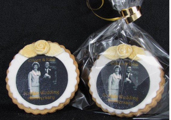 Golden Anniversary cookies